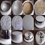 montagem no aro: técnica com glacê mármore