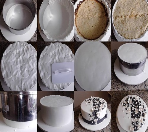 marmore - montagem no aro: técnica com glacê mármore