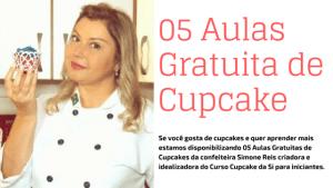 05 Aulas Gratuita de Cupcake 300x169 - Bolo de chocolate sem lactose