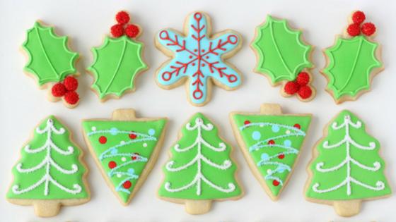 Biscoito decorado de natal