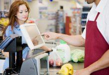 cajero de supermercado, supermarket cashier