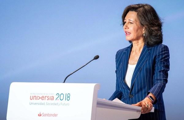 Ana Botín reivindica el papel de la mujer en la sociedad