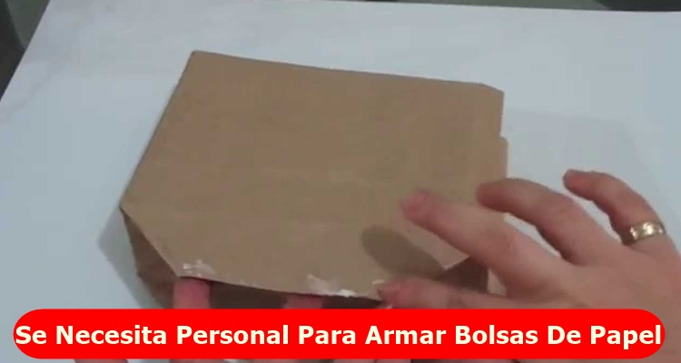 Se necesita personal para armar bolsas de papel en casa