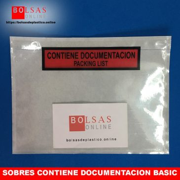 Sobres contiene documentacion basic