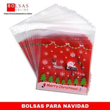 6ce555a07 iTemer - 100 bolsas de plástico autoadhesivas para regalo, diseño de  galletas de Navidad