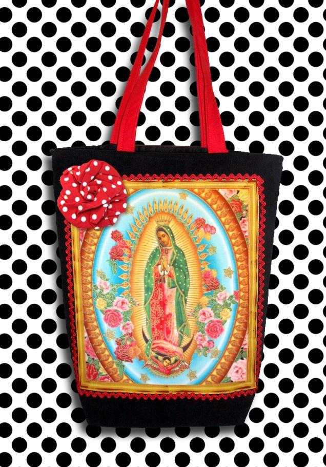 Bolsa Virgem de Guadalupe Rosas