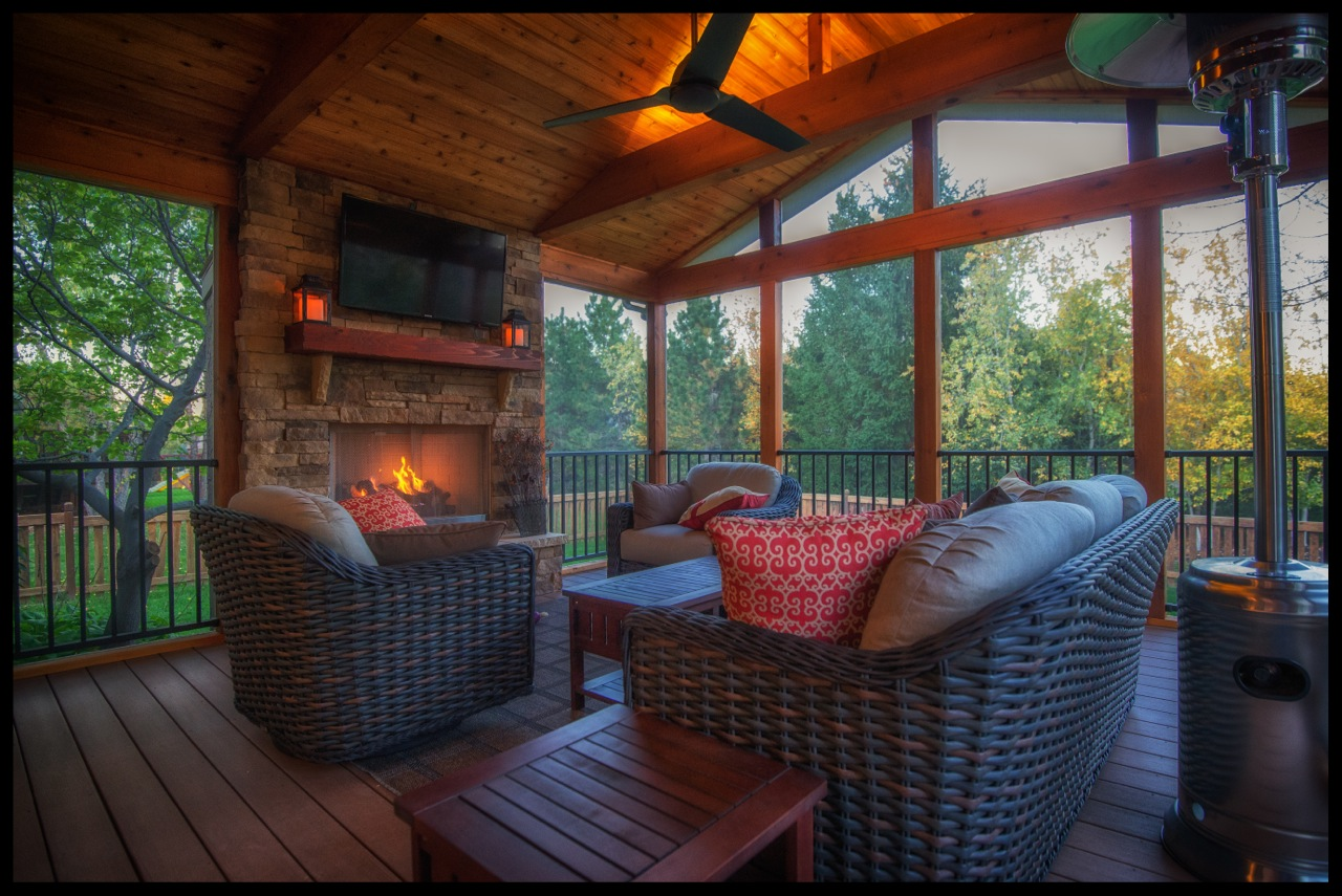 Can You Really Have A TV On Your Screened Porch? What