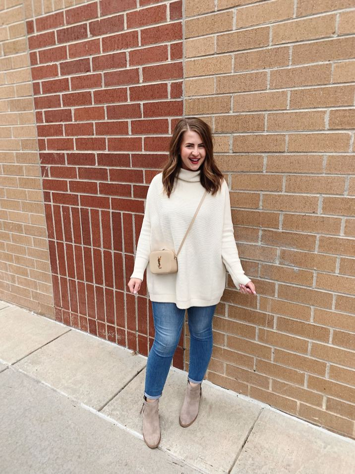 Free People Ottoman Sweater Slouchy Cream