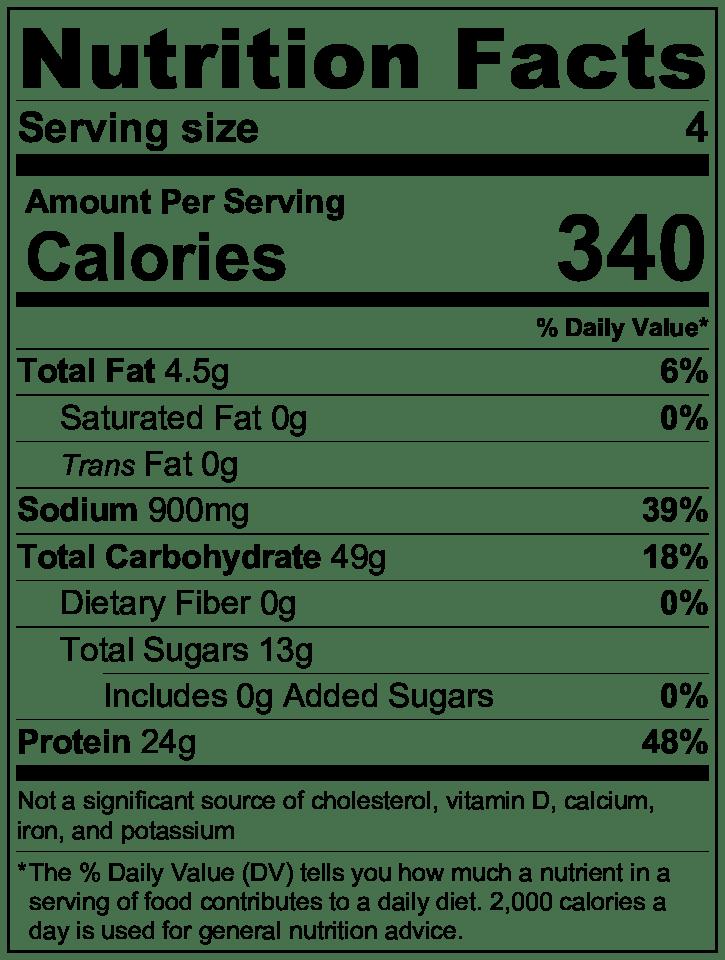 Vegan Burrito Bowl Nutrition Label.png