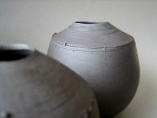 Elaine Bolt 'Dark Metal' vessel detail