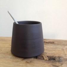 Flint black pot by Elaine Bolt