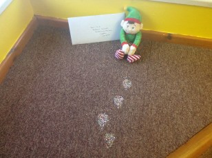 Another letter from Santa, delivered by our elf Derek