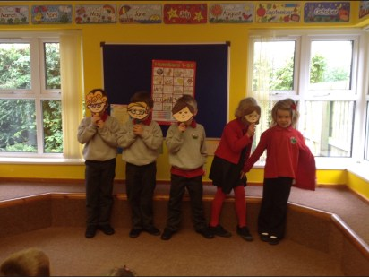 We read the book 'Oliver's Vegetables' then we got to act it out!