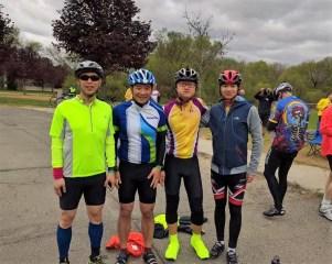 百英里骑行的华人小分队