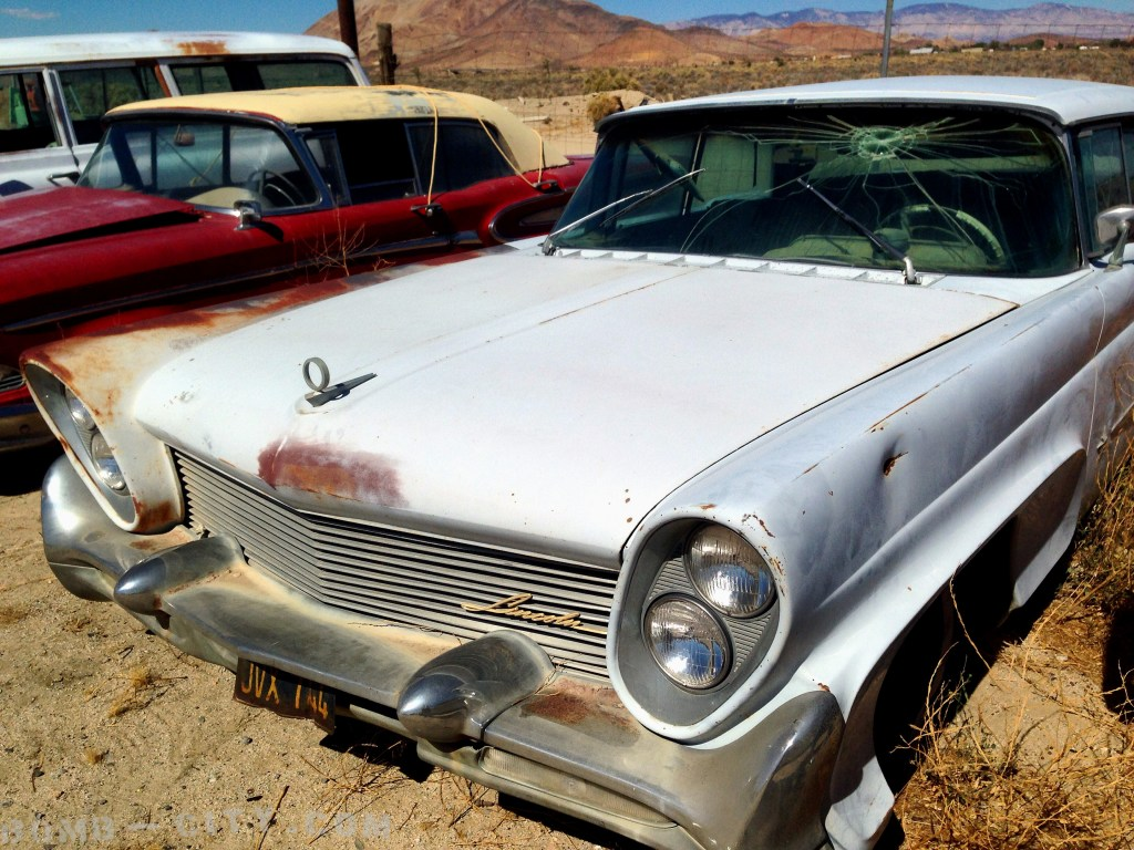 This Lincoln sits relatively well preserved in this High Desert yard waiting for the right person to rescue it.