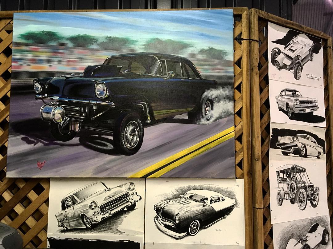 Love this 56 gasser painting in Tom The Giant Nyeshellip