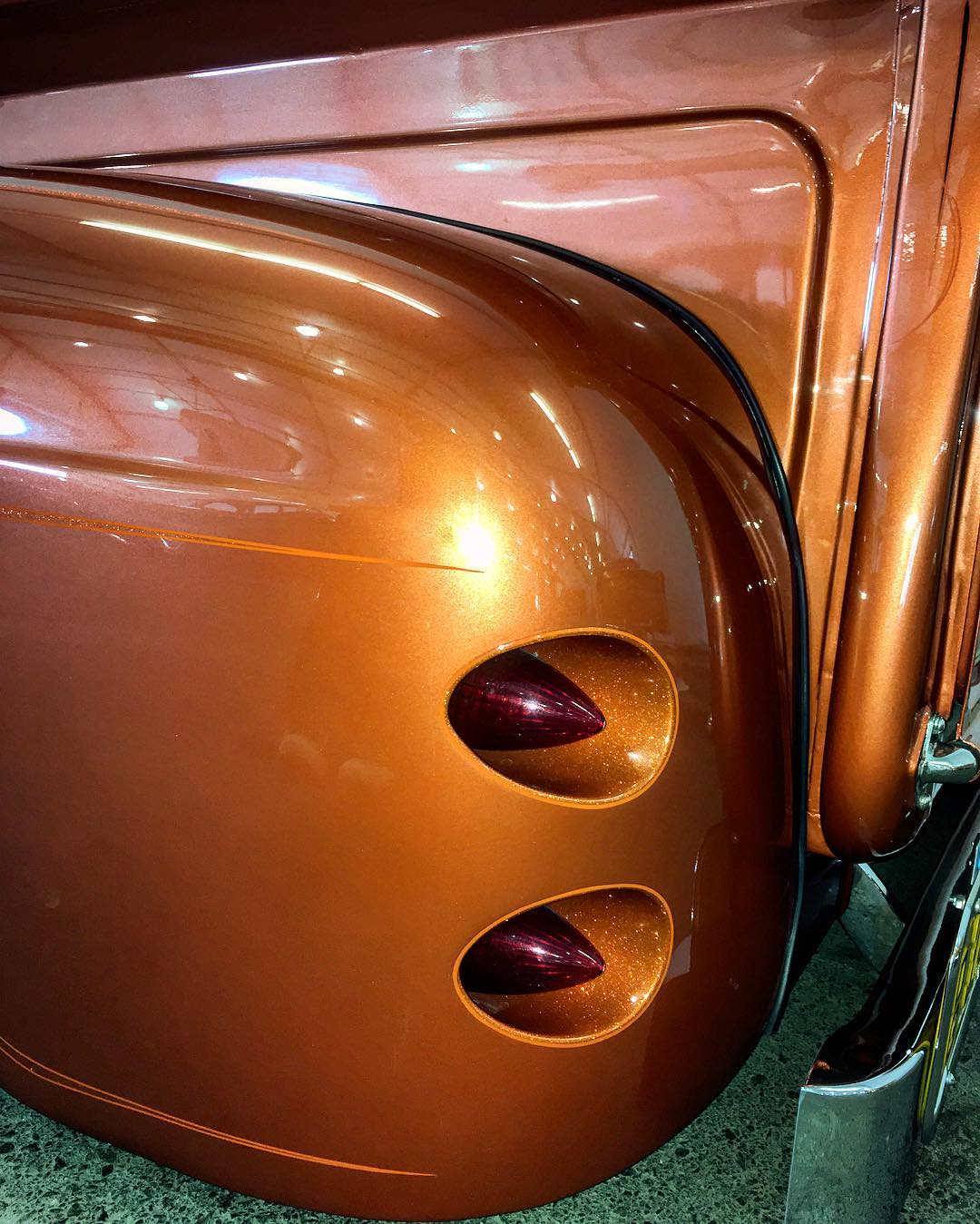 I dig the flake inside these frenched taillights autorama2017