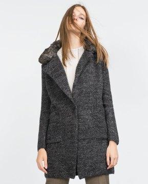 manteau maille Zara