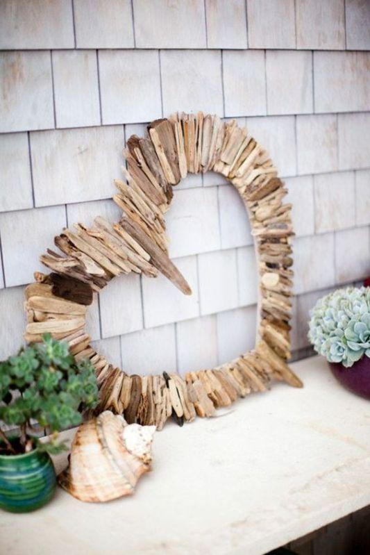 On est deux à la maison à aimer le bois flotté toujours dans une esprit de douceur et de nature ! (archzine.fr)