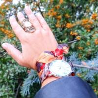 Un peu d'audace beaucoup de style, les montres bracelets foulard Gabriel Rivaz