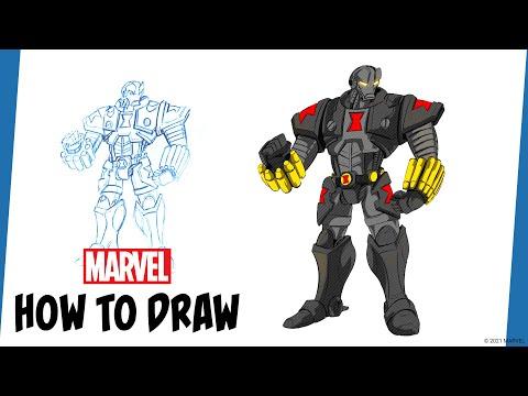 Marvel's Avengers: Mech Strike | How to Draw Black Widow