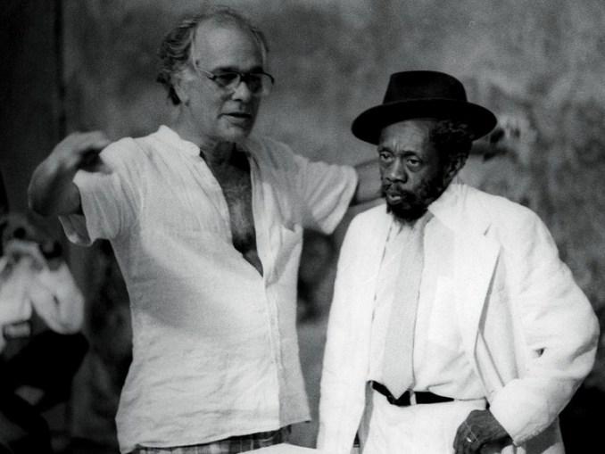 Nelson Pereira dos Santos dirigindo Grande Otelo