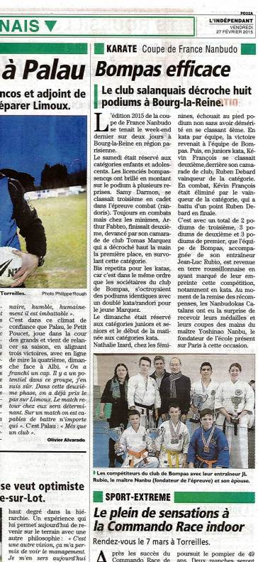 Article coupe de France 2015