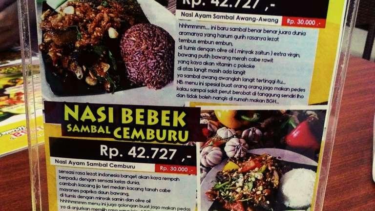 Bebek Goreng Harissa Rajawali Palembang