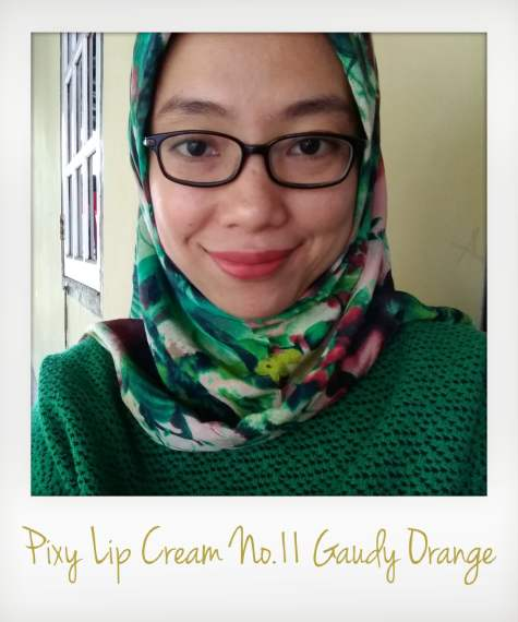 Pixy Lip Cream No.11 Gaudy Orange