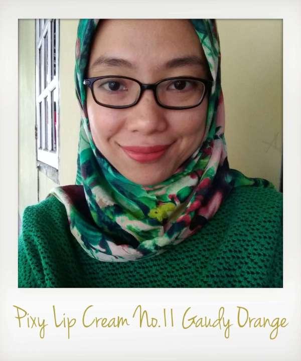 Pixy Lip Cream No.11 Gaudy Orange