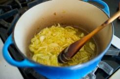 Caramelizing onions