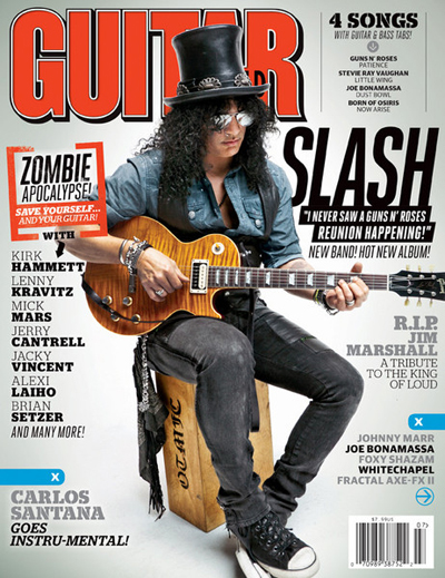 Guitar world july 2012 slash joe bonamassa