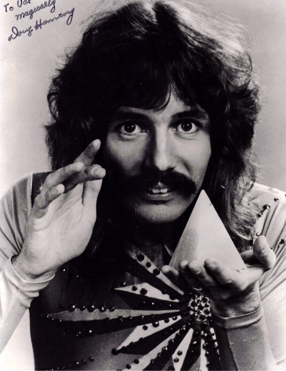 DOUG HENNING Signed Photograph BampW Theater
