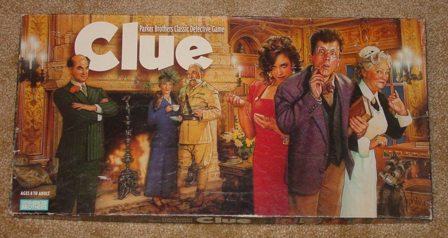 Clue Classic Detective Game Parker Brothers Complete