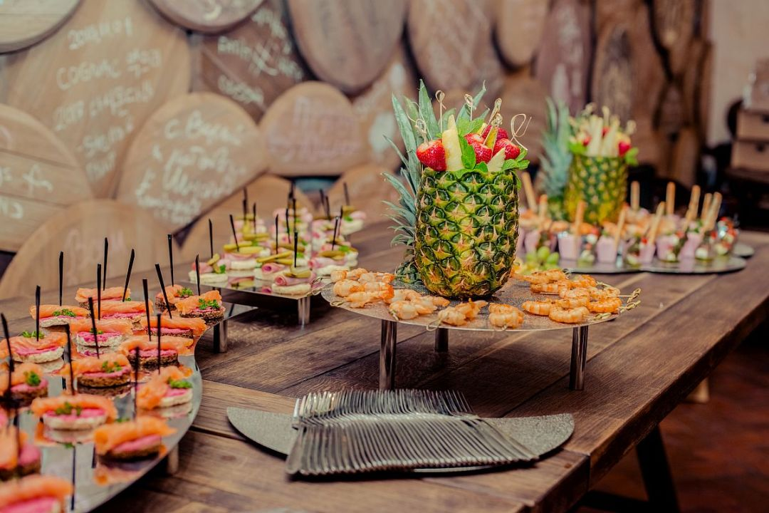 Canapes, Wraps & Pineapple