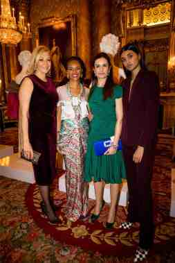 Guests at the Commonwealth Fashion Exchange Exhibition, Buckingham Palace, London