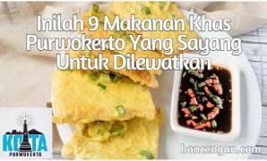 ah 9 Makanan Khas Purwokerto
