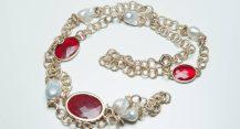 Giuseppina Fermi Red Chrystal Necklace