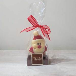 Small White Chocolate Santa
