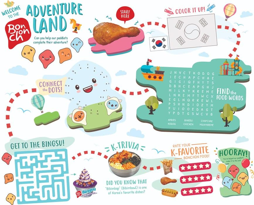 Kiddie Adventure Meal - Activity Sheet 1