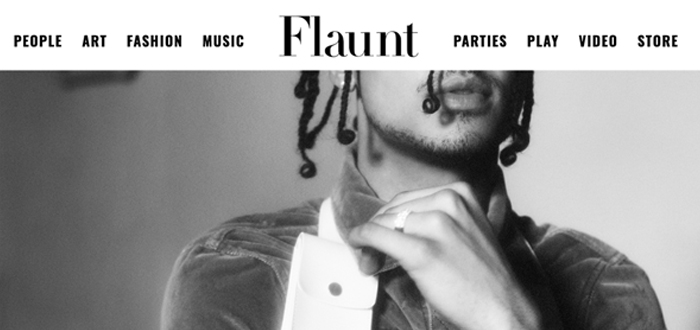 """  Flaunt Magazine: """"A Conversation With Quincy"""", 06.21.18  """