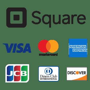 (Square)スクエアを使ったクレジットカード決済がご利用頂けます