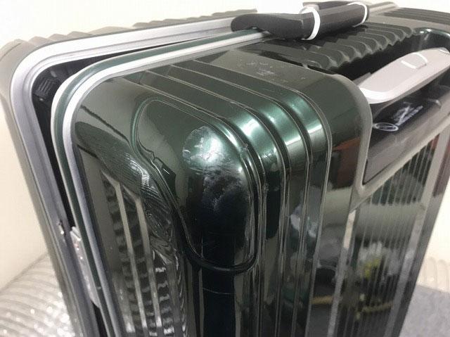 (LegendWalker)レジェンドウォーカー / スーツケース本体の角ヘコミを整形