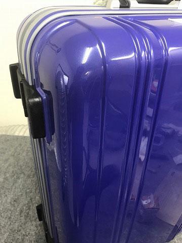 (SUNCO)サンコー / スーツケースの角ヘコミを修正して表面を塗装修理