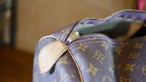 (Louis Vuitton)ルイ・ヴィトン / ボストンバッグの割れたファスナースライダー