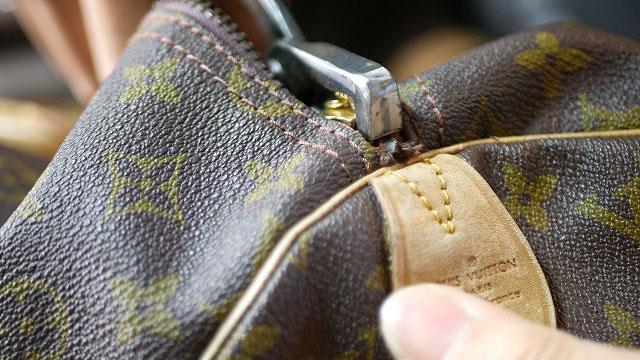 (Louis Vuitton)ルイ・ヴィトン / ボストンバッグのファスナースライダー止めを取付ける