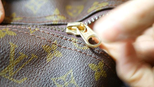 (Louis Vuitton)ルイ・ヴィトン / ボストンバッグのファスナースライダーをYKKの代替スライダーに交換