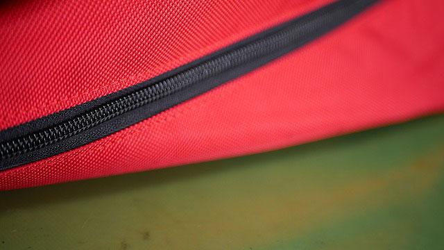 (キャディバッグ)フードカバーのコイルが破損したファスナーを交換修理