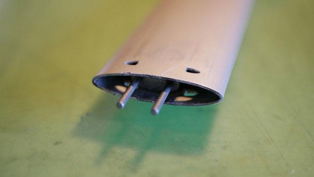 (TUMI)トゥミ/キャリーバッグの伸縮ハンドルの内部