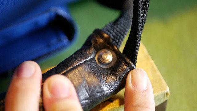 (BELDING)ベルディング/キャディバッグのハンドルカシメ穴をワッシャーで補強